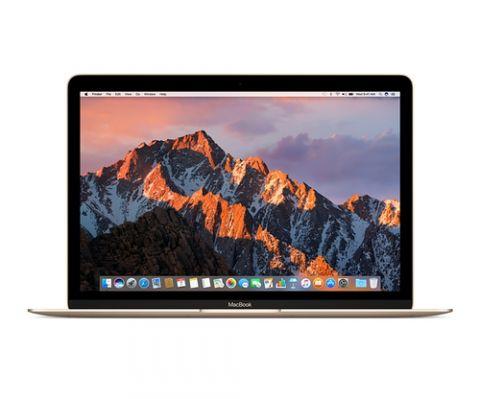 "MacBook Apple MacBook Computadora portátil 30.5 cm (12"") 2304 x 1440 Pixeles Intel® Core™ m3 de la séptima generación 8 GB LPDDR3-SDRAM 256 GB SSD Wi-Fi 5 (802.11ac) macOS Sierra Oro"