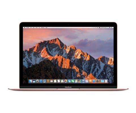 "MacBook Apple MacBook Computadora portátil 30.5 cm (12"") 2304 x 1440 Pixeles Intel® Core™ m3 de la séptima generación 8 GB LPDDR3-SDRAM 256 GB SSD Wi-Fi 5 (802.11ac) macOS Sierra Oro rosado"