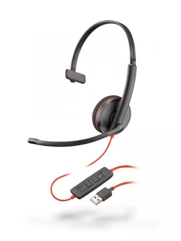 Accesorios para Electronica POLY Blackwire 3210 Auriculares Diadema Conector de 3.5 mm USB tipo A Negro