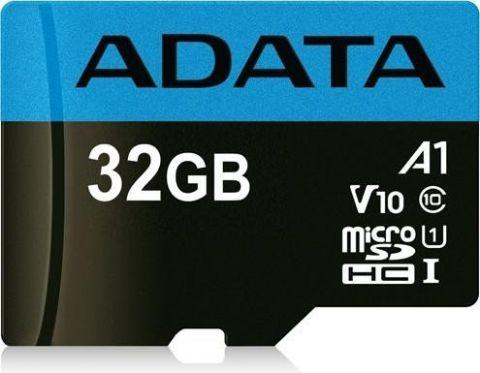 Micro SD ADATA AUSDH32GUICL10A1-RA1 - 32 GB, 85 MB/s, 25 MB/s, Negro, Clase 10 AUSDH32GUICL10A1-RA1