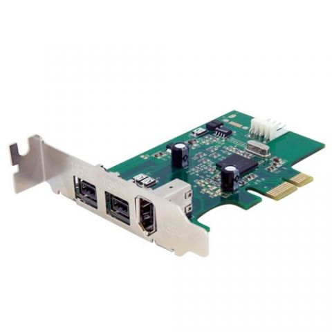 Tarjeta firewire StarTech.com Adaptador Tarjeta FireWire PCI-Express Bajo Perfil de 2 Puertos F/W 800 y 1 Puerto F/W 400