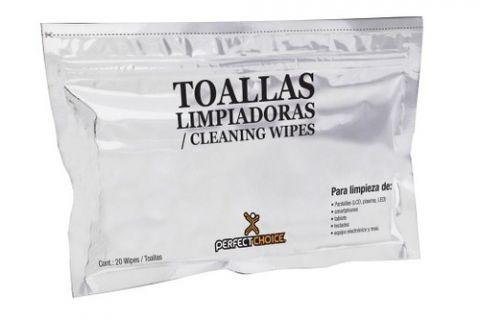 Toallas limpiadoras PERFECT CHOICE - Paños húmedos, LCD/TFT/Plasma PC-030270