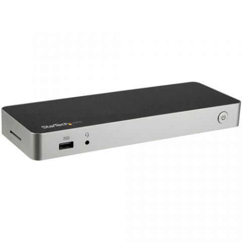 StarTech.com Dock USB C - para 2 Monitores HDMI & DisplayPort 4K 30Hz - Docking Station para Laptop USB Tipo C con Entrega de Potencia de 60W, SD, Hub de 4 Puertos USB-A, GbE, Audio - Compatible con Thunderbolt 3