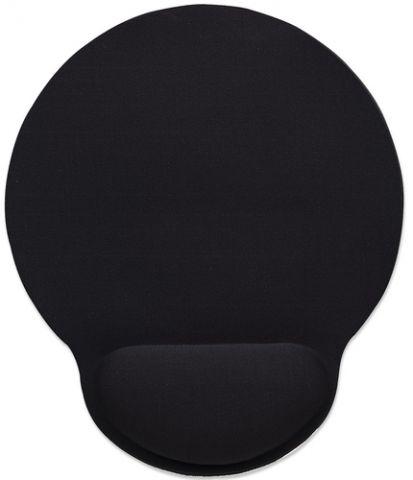 Mouse Pad MANHATTAN 434362 - Negro, Monótono, 20, 3 cm, 4 mm 434362