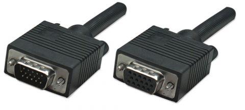 Cable VGA - Extension MANHATTAN - 1, 8 m, VGA (D-Sub), VGA (D-Sub), Macho/hembra, Negro 309011