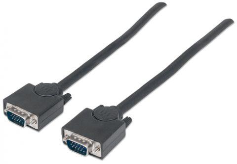 Cable VGA - HD15 MANHATTAN - 4, 5 m, VGA (D-Sub), VGA (D-Sub), Macho/Macho, Negro 312721