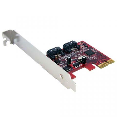 StarTech.com Tarjeta Adaptadora Controladora PCI Express PCIe 2 Puertos SATA Internos - SATA III