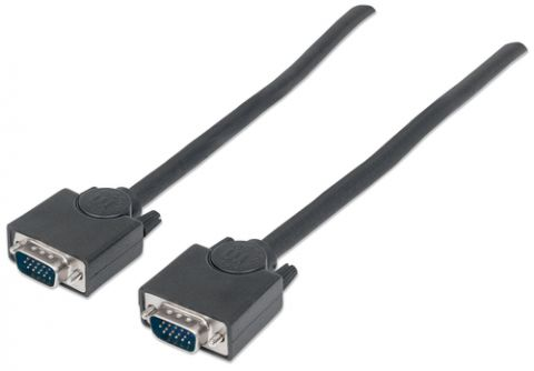 Cable VGA - HD15 MANHATTAN - 3 m, VGA (D-Sub), VGA (D-Sub), Macho/Macho, Negro 311748