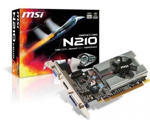 Tarjeta gráfica MSI N210-MD1G/D3 tarjeta gráfica GeForce 210 1 GB GDDR3