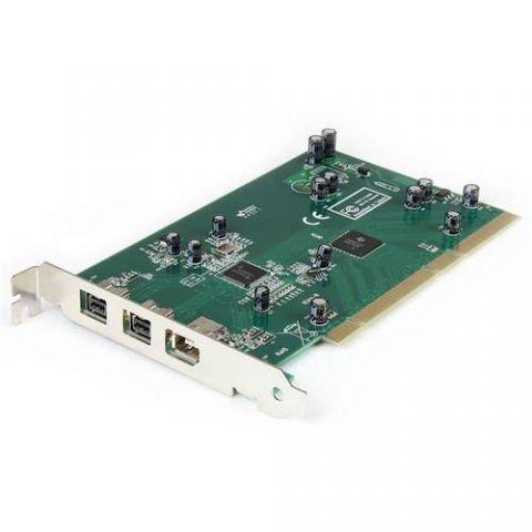 Tarjeta firewire StarTech.com Adaptador Tarjeta Controladora FireWire 800/400 PCI 2 Puertos 1394b 1x 1394a - Kit Edición DV