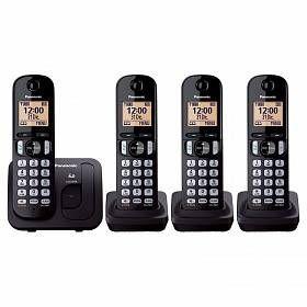 Antena Panasonic KX-TGC214MEB teléfono Teléfono DECT Identificador de llamadas Negro