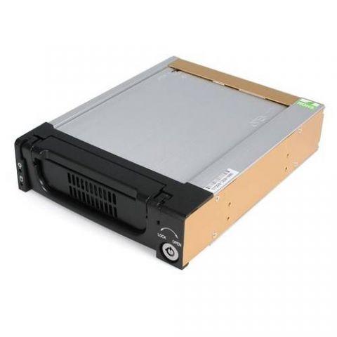 """Gabinete para disco duro StarTech.com Rack Móvil Aluminio Reforzado Disco Duro HDD SATA 3.5"""" Pulgadas con Bandeja Bahía 5.25"""""""