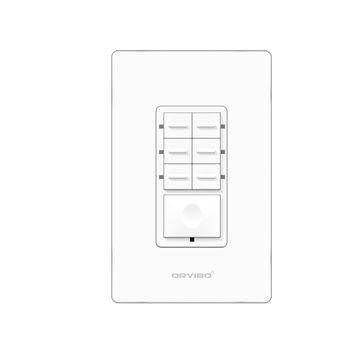 Botonera de 7 Escenas Inteligente Orvibo T10S7ZW-1UO - Color blanco, Inalámbrico y alámbrico, Wi-Fi, 2400 MHz, 120 - 270 T10S7ZW-1UO
