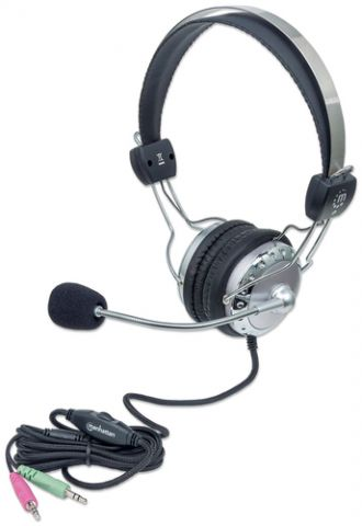 Audífonos MANHATTAN 175517 - Gris, PC/Juegos, 108 dB 175517