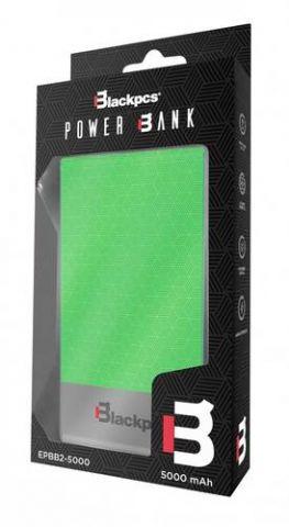 Power Bank Blackpcs Colors batería externa 5000 mAh Verde