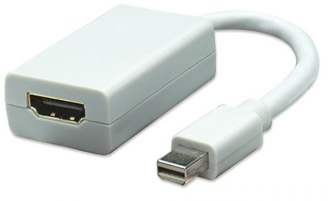 Adaptador mini displayport a HDMI MANHATTAN - Color blanco 322461