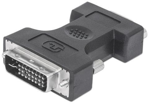 Accesorio Manhattan 328883 adaptador de cable DVI-I VGA Negro
