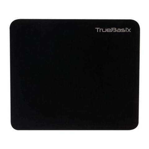 MousePad TRUE BASIX TB-916684 - Negro, Monótono, 180 mm, 2 mm, Tela, De plástico TB-916684