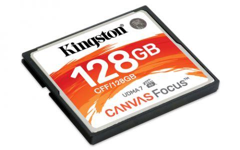 Kingston Technology Canvas Focus memoria flash 128 GB CompactFlash