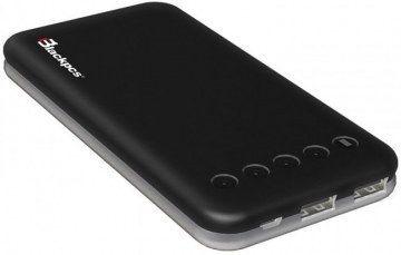 Power Bank Blackpcs Ares batería externa Polímero 10000 mAh Negro
