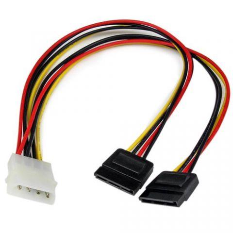 Adaptadores para Disco Duro StarTech.com Adaptador Cable Divisor LP4 de 4 Pines a SATA - 2x Hembra SATA y 1x Macho LP4