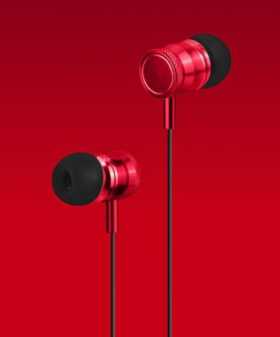 Accesorios para Electronica Naceb Technology NA-0305R audífono y auriculare Auriculares Intra auditivo Conector de 3.5 mm Rojo