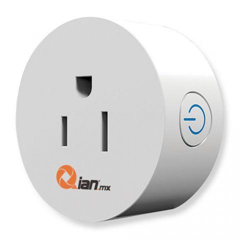 Contactos Inteligentes Wifi Qian SH1800 enchufe inteligente 1200 W Blanco