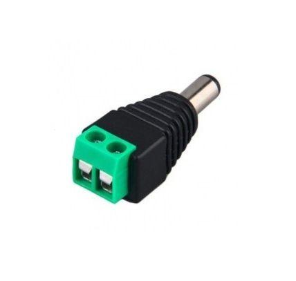 ADAPTADOR TIPO JACK  BROBOTIX 170144 - Plug Vcd, Macho, Negro, Cobre 170144