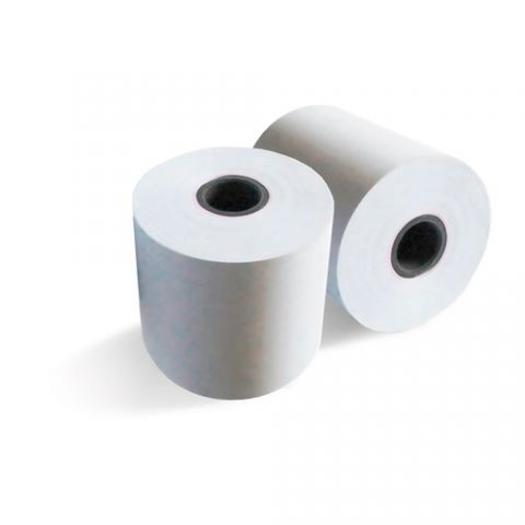Rollo de Papel Térmico Qian  ANJET - 10 Rollos, Color blanco, Rollo QCT804010