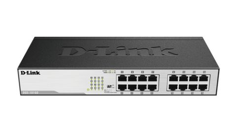 Switches D-Link DGS-1016D dispositivo de redes No administrado Gigabit Ethernet (10/100/1000) 1U Negro, Plata
