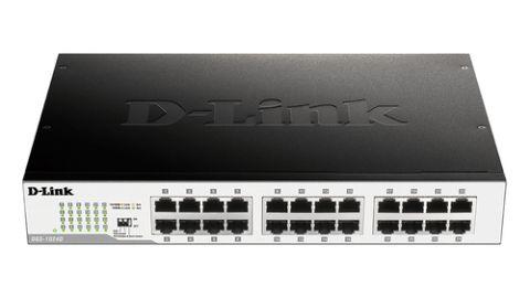 Switches D-Link DGS-1024D dispositivo de redes No administrado Gigabit Ethernet (10/100/1000) 1U Negro, Plata