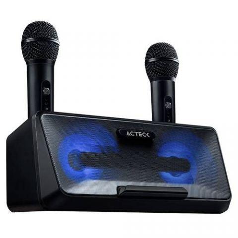 Bocina Sistema de Entretenimiento Karaoke ACTECK AC-926935 - 50 W, Negro, 100 Hz ~ 18 KHz, 2 * 10 W AC-926935