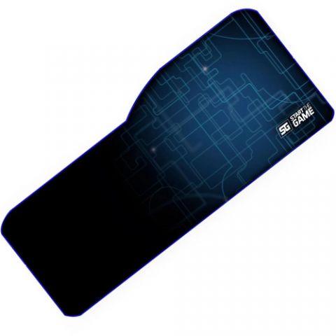 Tapete Vorago XL VORAGO MPG-300 - Negro, Azul, 795 mm, 5 mm, Spandex, Microfibra, Goma MPG-300