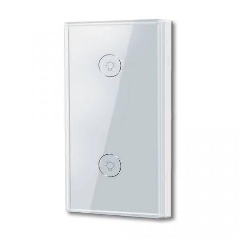 Interruptor de Luz Doble WiFi TECHZONE TZAPASH02 - Blanco, Inalámbrica, 50/60Hz, 100-240V TZAPASH02