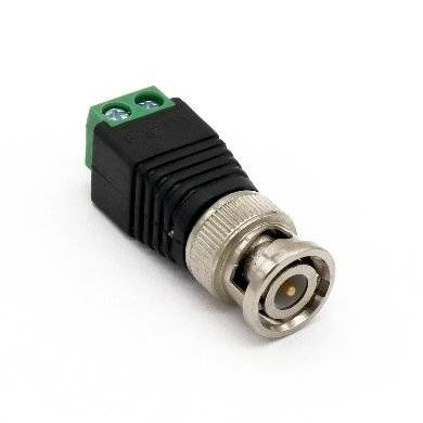 Adaptador CCTV BROBOTIX 764786 - Negro c/ Verde, BNC Macho, Coaxial, Macho 764786