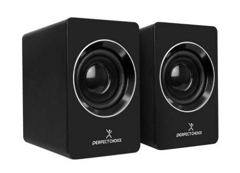 Bocinas Estéreo PERFECT CHOICE PC-112914 - 2.0, Negro PC-112914