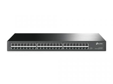 Switch TP-LINK - Gris, 10/100/1000 Mbps, 48ptos, Rack TL-SG1048