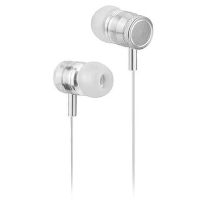 Accesorios para Electronica Naceb Technology NA-0305B audífono y auriculare Auriculares Intra auditivo Conector de 3.5 mm Plata, Blanco