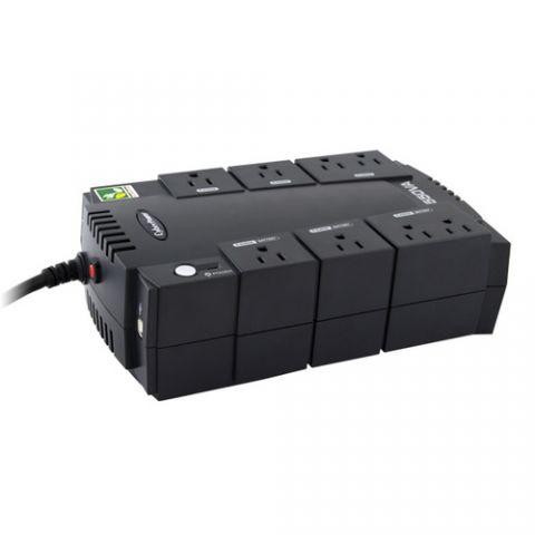 No Break y UPS CyberPower CP550SLG sistema de alimentación ininterrumpida (UPS) En espera (Fuera de línea) 550 VA 330 W 8 salidas AC