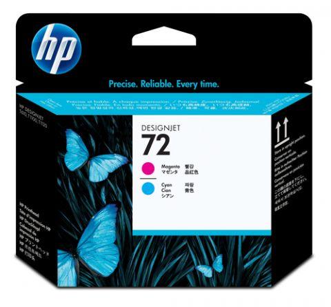 Cartucho HP Cabeçote de impressão magenta e ciano 72 DesignJet Cian, Magenta