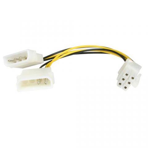 Accesorio StarTech.com Cable de 15cm Adaptador de Alimentación LP4 Molex a PCI Express de 6 Pines para Tarjeta de Video