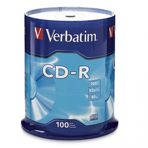 Disco CD-R VERBATIM - CD-R, 700 MB, 100, 52x, 80 min 94554