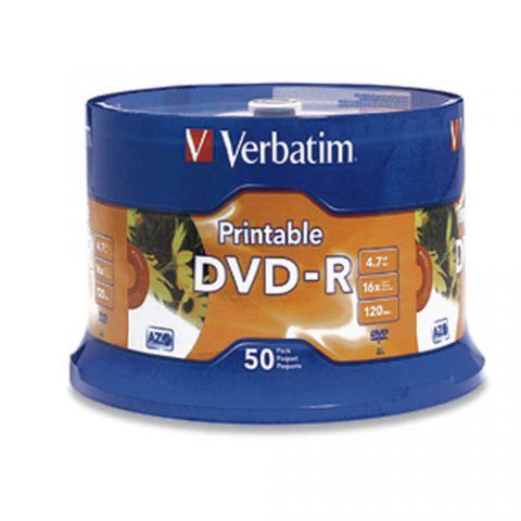 Disco DVD-R VERBATIM 95137 - DVD-R, 4.7 GB, 50, 16x, 120 min 95137