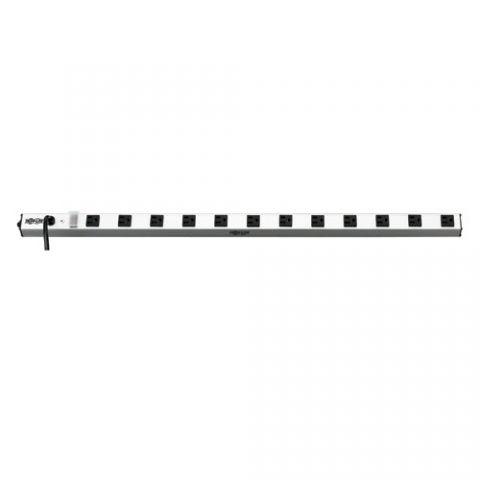 Regleta y Multicontacto Tripp Lite PS3612 Barra de contactos vertical con 12 tomacorrientes, 120V, 15A, 4.57 m [15 pies]. Cable, 5-15P, 36 pulgadas