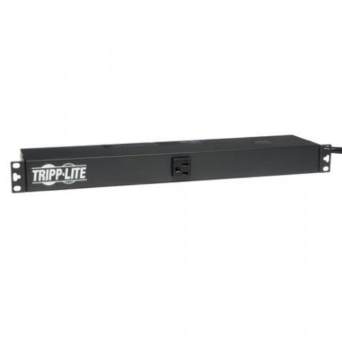 Regleta y Multicontacto Tripp Lite PDU1220 PDU Básico Monofásico de 2.4kW 120V, 13 Tomacorrientes NEMA 5-15/20R, Entrada NEMA 5-20P, Cable de 4.57 m [15 pies], Instalación en 1U de Rack