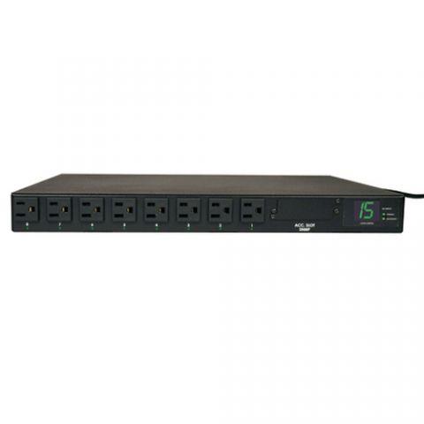 PDU Tripp Lite PDUMH15AT PDU Monofásico con Medidor Digital con Switch de Transferencia Automática, 1.4kW, 2 Entradas 5-15P 15A de 120V, 8 Tomacorrientes 5-15R, 1U, TAA
