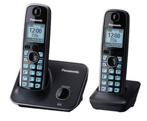 Antena Panasonic KX-TG4112ME Teléfono DECT Identificador de llamadas Negro