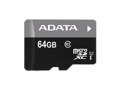 Memoria Micro SD ADATA UHS-I U1 - 64 GB, 30 MB/s, 10 MB/s, Negro AUSDX64GUICL10-RA1