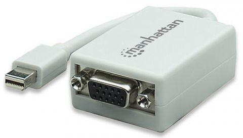 Accesorio Manhattan 151382 adaptador de cable mini-DisplayPort M VGA FM Blanco