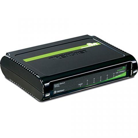 Switches Trendnet 5-Port Gigabit GREENnet Switch No administrado Negro